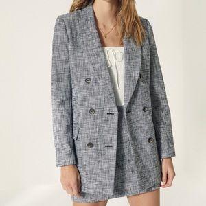 New Wilfred Margaux Tweed Blazer, 8